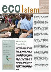 """Die IFEES informiert in ihrem Newsletter """"ecoIslam"""" regelmäßig seine Mitglieder über aktuelle Umweltprojekte."""