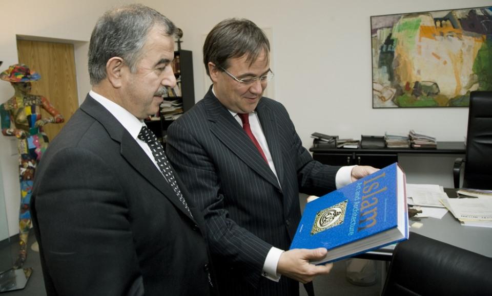 Armin Laschet bei Empfang des Präsidenten des Amtes für Religiöse Angelegenheiten der Türkei, Prof. Dr. Ali Bardakoglu