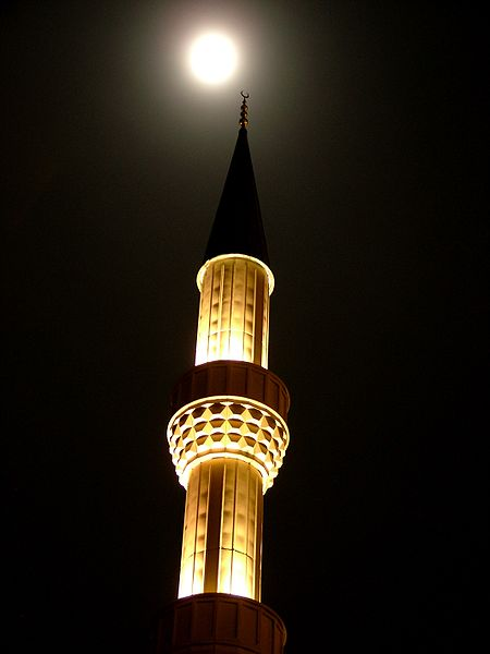 """Bloom: """"Das Minarett ist, ähnlich wie das Kuppeldach der Moschee eine der charakteristischsten Ausprägungen der islamischen Architektur."""""""