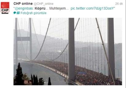 Oppositionspartei CHP verbreitet gefälschte Bilder vom Marathon